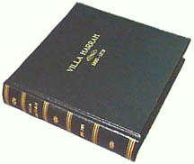 Genuine leather binding with special gold stamping